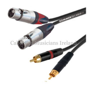 Female XLR to RCA Twin