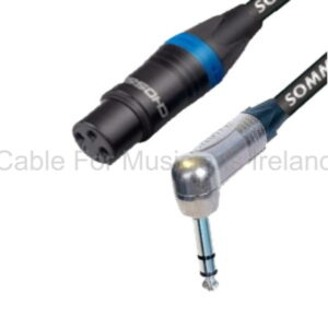 Choseal Female XLR to Stereo Angled Jack