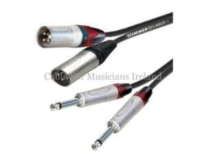 Jack to Male XLR Twin
